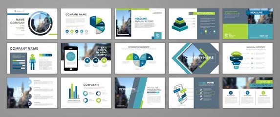 Presentation flyer set Fotobehang