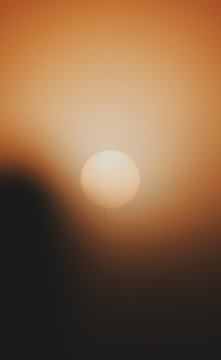 Scenic View Of Sun Against Sky During Sunset