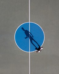 Directly Above Shot Of Basketball Court