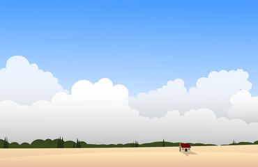 Printed kitchen splashbacks Beige Savannah landscape vector illustration.