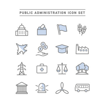 PUBLIC ADMINISTRATION ICON SET