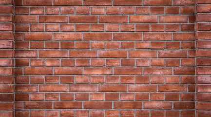 texture of old red brick wall background. high detailed photo of brickwall