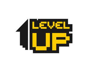 Creative design of level up symbol