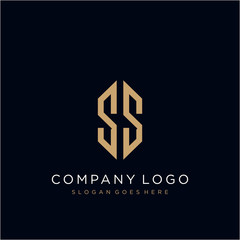 SS Letter logo icon design template elements
