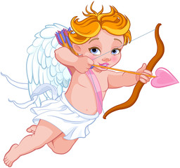 Fotorolgordijn Sprookjeswereld Cupid Shooting