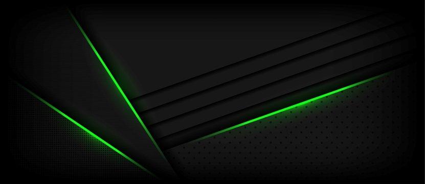 elegant dark luxury background texture with light green effect element