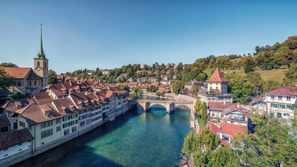 Fototapete - City of Bern in Switzerland