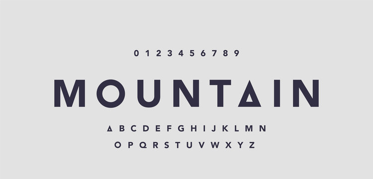 Abstract minimal modern alphabet fonts for logo. Typography technology electronic digital music future creative font. vector illustraion