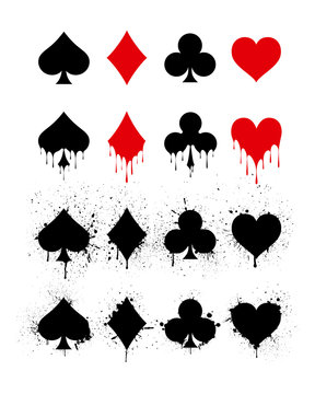 Set of symbols deck of cards for playing poker and casino.