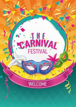 carnival card illustration for festival banner