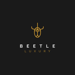simple and luxury bug beetle logo design inspiration