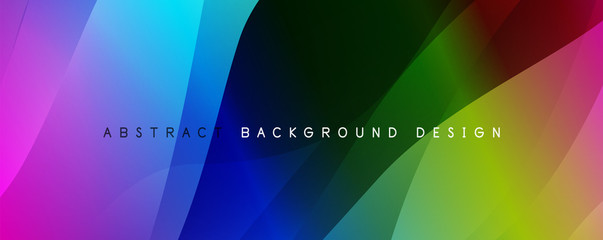 Fototapete - Trendy simple fluid color gradient abstract background with dynamic wave line effect. Vector Illustration For Wallpaper, Banner, Background, Card, Book Illustration, landing page