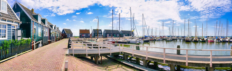 The harbor of Marken. Marken is a small historical dutch village in Netherlands