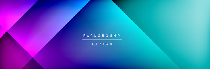 Abstract background - squares and lines composition created with lights and shadows. Technology or business digital template Fotomurales