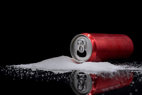 Unhealthy food concept, the dangers of sugar in carbonated beverages.