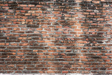 Antique red brick wall wallpaper