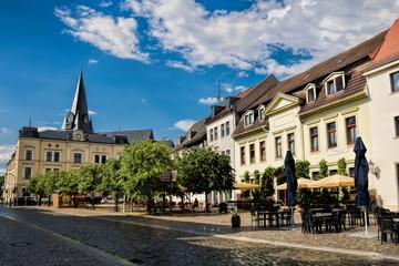 Fotomurales - bernburg, deutschland - altstadt mit turm der marienkirche