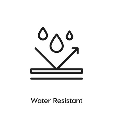 water resistant icon vector. waterproof icon vector symbol illustration. Modern simple vector icon for your design. water resistant repellent icon vector