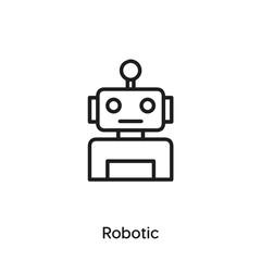 robotic icon vector . robotic symbol sign