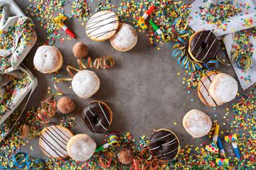 Sweet carnival donuts