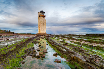 Moody skies over Southerness lighthouse