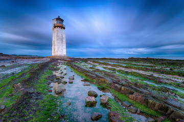 Southerness Lighthouse at Dusk