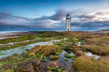 Dusk at Southerness lighthouse