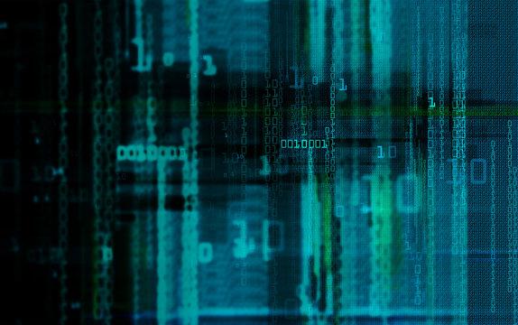 Close-Up Of Binary Code
