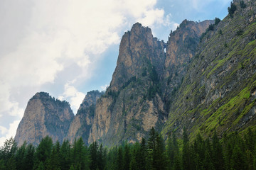 Poster de jardin Parc Naturel Scenic Mountains in Puez-odle nature park in the dolomites, Italy