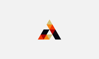 Letter A logo icon design template elements Wall mural