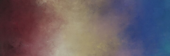 horizontal colorful distressed painting background texture with dim gray and rosy brown colors. free space for text or graphic
