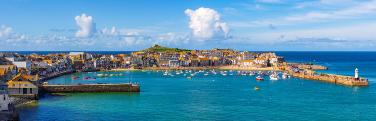 Panoramic view of St Ives, Cornwall, England