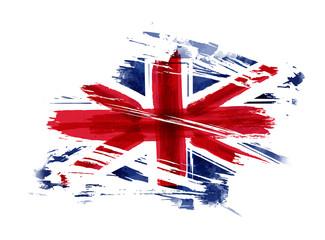 Grunge flag of the United Kingdom Wall mural