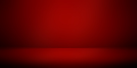perspective floor backdrop red room studio with light red gradient spotlight backdrop background for display your product or artwork