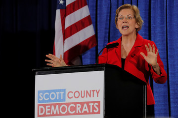 Democratic 2020 U.S. presidential candidate Warren speaks in Bettendorf