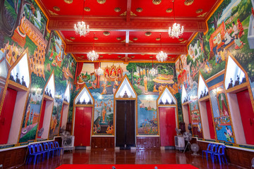 Wall Murals Place of worship temple in thailand