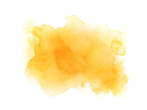 yellow watercolor background. art hand paint