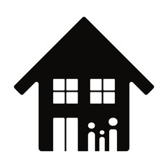 Family and Building icon. Real Estate Logo