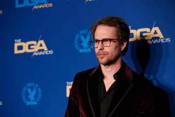 Presenter and actor Sam Rockwell poses at the 72nd Annual Directors Guild Awards in Los Angeles,