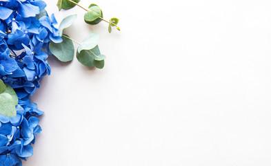 Zelfklevend Fotobehang Hydrangea Blue hydrangea flowers