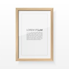 Wood Vector frame for image and text