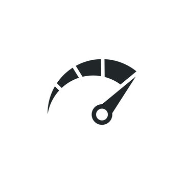 Speed test internet measure icon template color editable. Speedometer symbol vector sign isolated on white background illustration for graphic and web design.