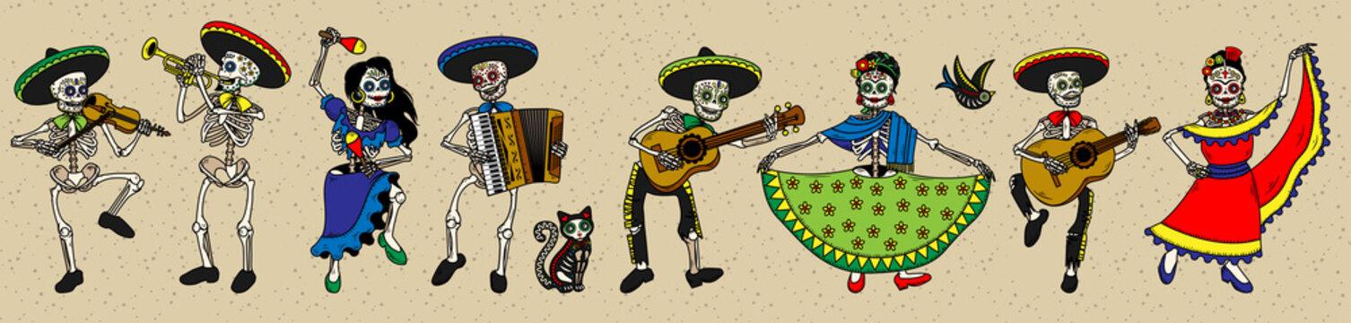 Day of the Dead. Dia de los Muertos.