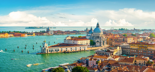 Panoramic aerial view of Venice