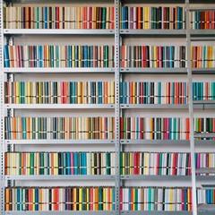 Full Frame Image Of Books Arranged On Shelves