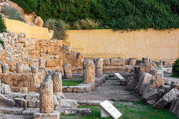 The ancient temple of Hera near Perachora village in Greece