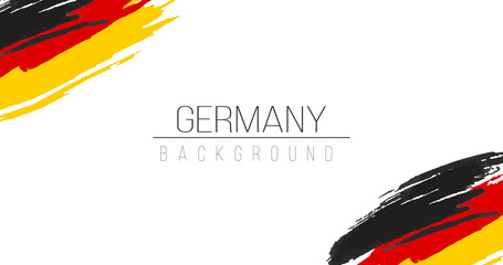 Germany flag brush style background with stripes. Stock vector illustration isolated on white background. Fotomurales