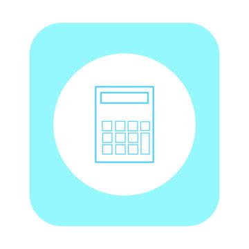 vector icon, calculator with small screen