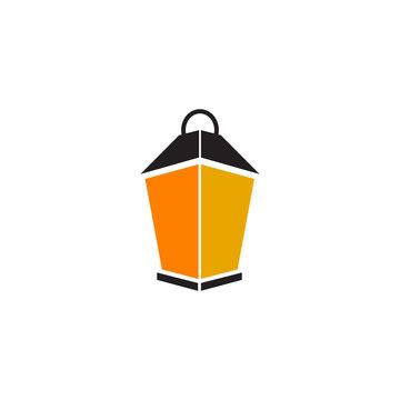 Lantern icon logo design vector template
