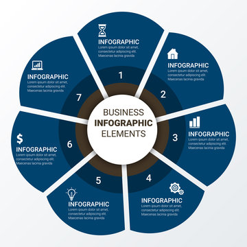 Vector illustration infographics options. Template for brochure, business, web design